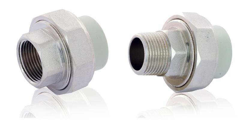 Соединение полипропиленовых труб с металлическими