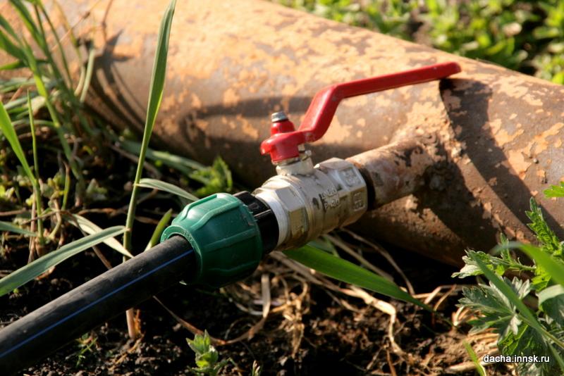 Монтаж водопровода из труб ПНД