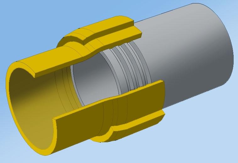 Соединения полиэтиленовых труб со стальными
