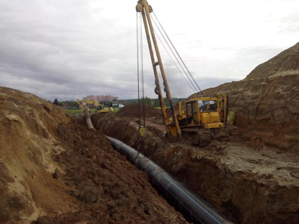 Прокладка газопроводов из полиэтиленовых труб