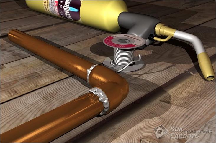 Оборудование для пайки медных труб
